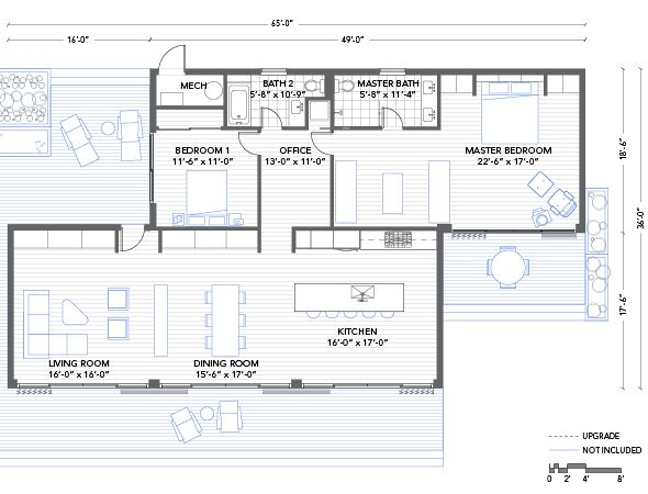 Blu Homes Glidehouse Floorplan 2 Bedroom This Could Easily