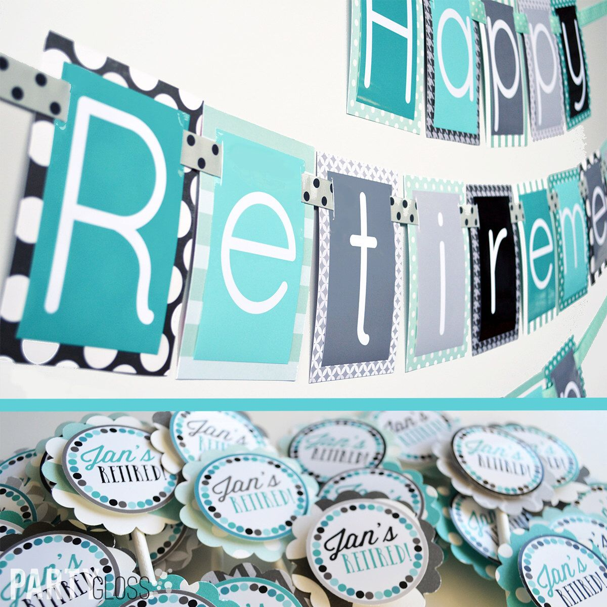 decor fully assembled partygloss retirement by on retired pin invitation decorations party etsy