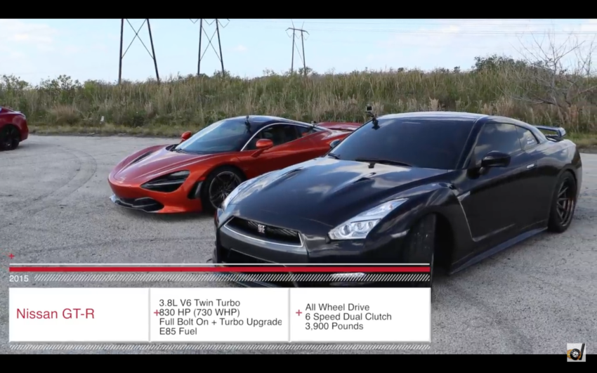 Video Ams Alpha 9 Nissan Gt R Vs Mclaren 720s Nissan Gt R
