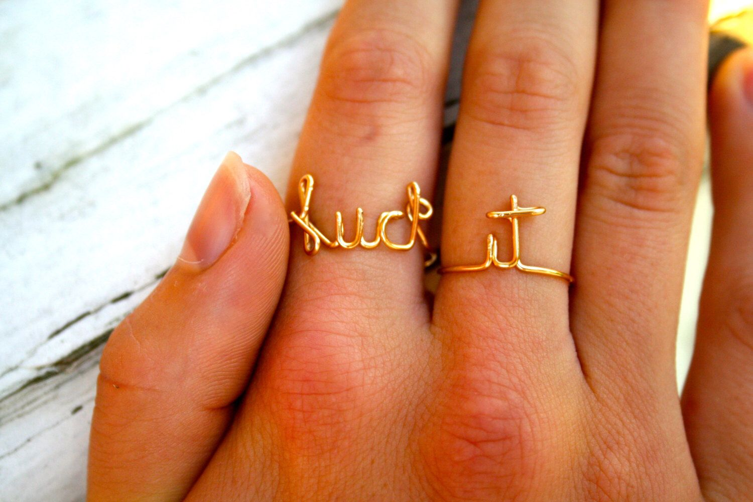 FUCK IT Ring - Silver, Rose Gold, Gold, Fuck ring set, Mature ...