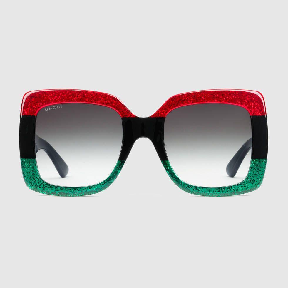38265bd86a Gucci Oversize Square-Frame Acetate Sunglasses ( 320) ❤ liked on Polyvore  featuring accessories