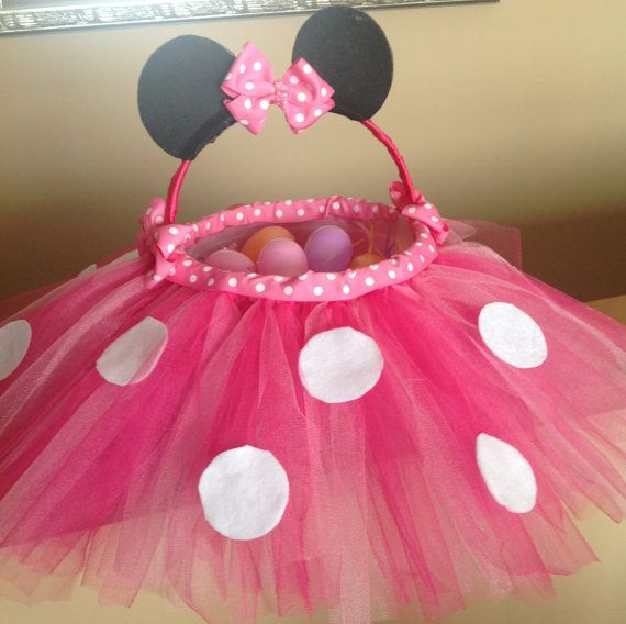 Easter basket minnie mouse inspired pink polka dot easter stacey franklin is this the easter basket idea you were talking about negle Choice Image