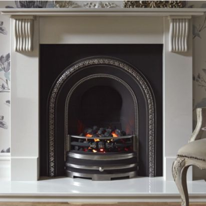 Victoria White Micro Marble With Black Cast Inset Electric
