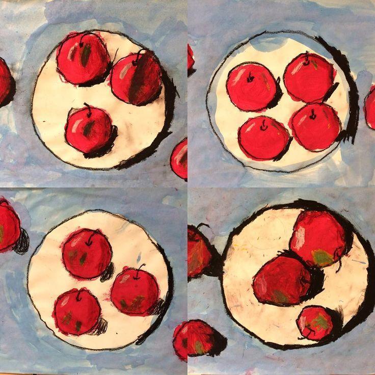 First grade Cezanne apples. cezanne stilllife apples