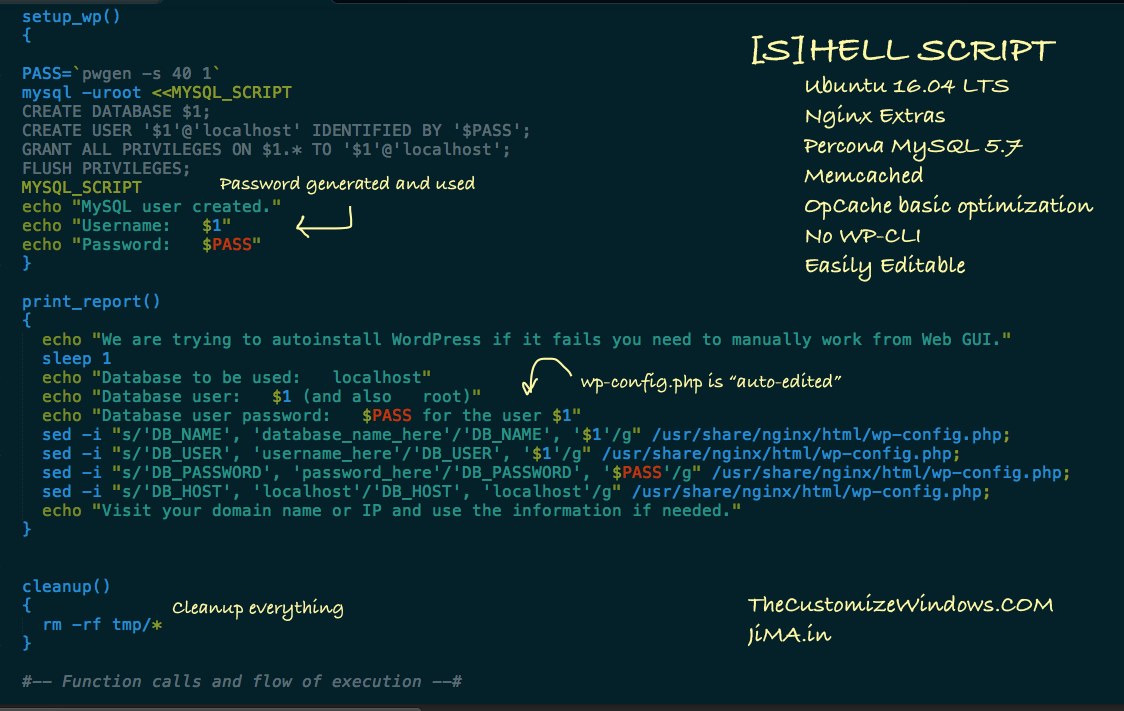 Nginx WordPress Ubuntu 16 04 Auto Install Bash Script