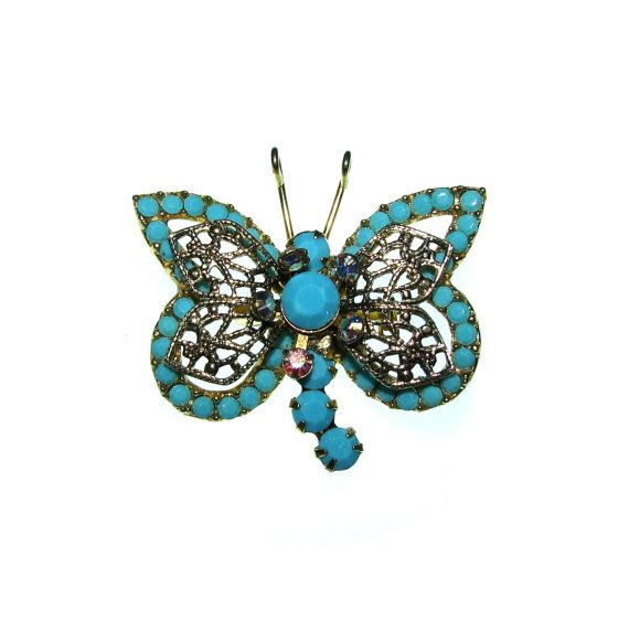 Vintage 60s Butterfly Brooch / 1960s by BreesVintageRevivals, $10.00