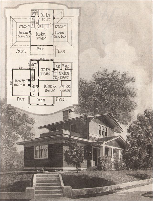 1920 Airplane Bungalow - American Residential Architecture - 1920s - fresh blueprint builders seattle
