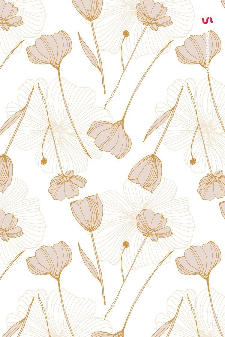Floral Backgrounds, digital paper, hand-drawn, elegant flower patterns, printable paper, digital background, floral print, scrapbook paper