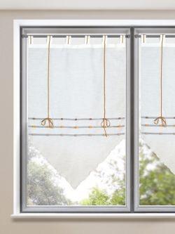 b ndchenrolle mila verspielter und luftig leichter spitzh nger mit schlaufen gardinen outlet. Black Bedroom Furniture Sets. Home Design Ideas