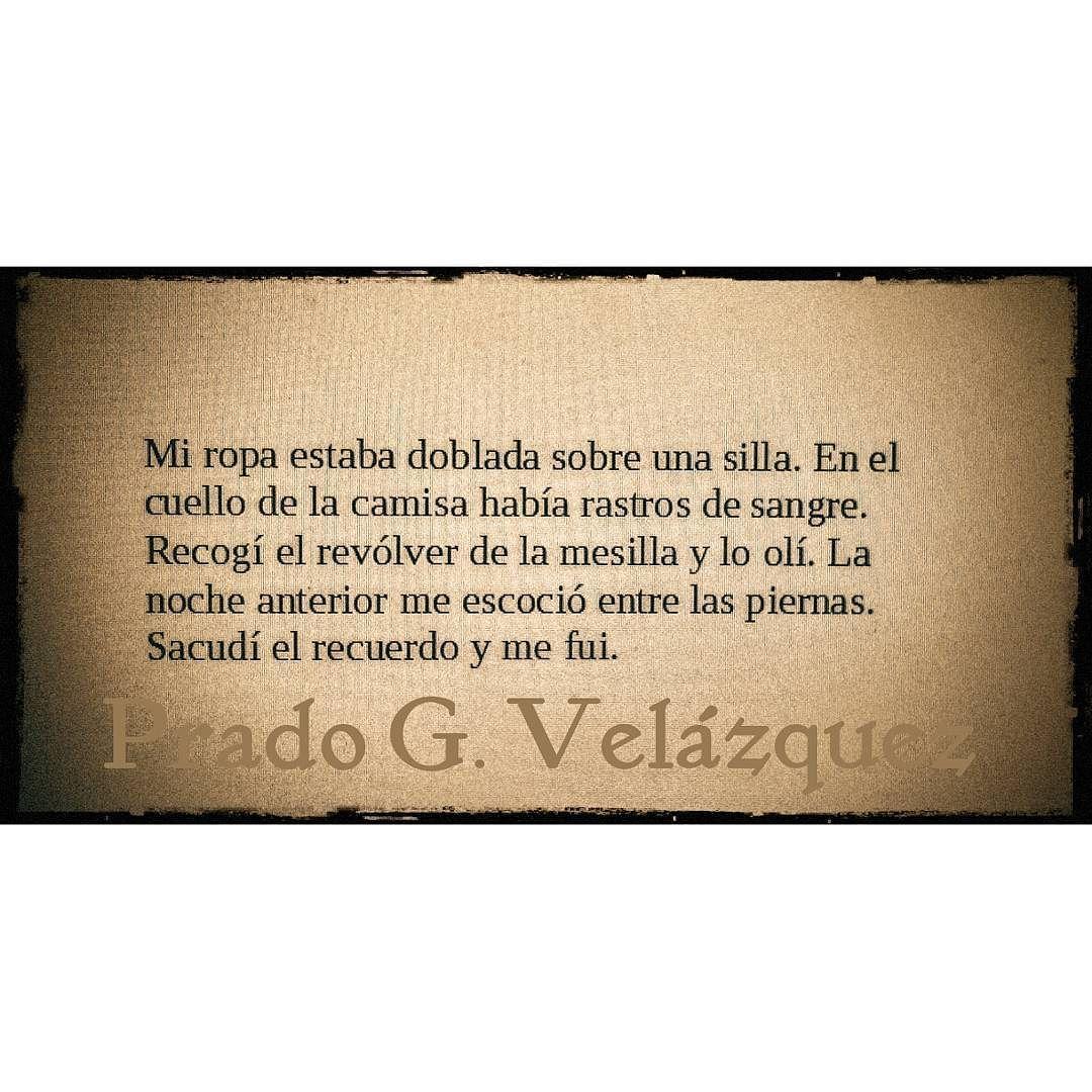 """Prado G. Velázquez on Instagram """"Extracto de mi próxima"""