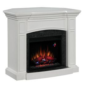 Chimney Free 44 White Corner Or Wall Mount Electric Fireplace
