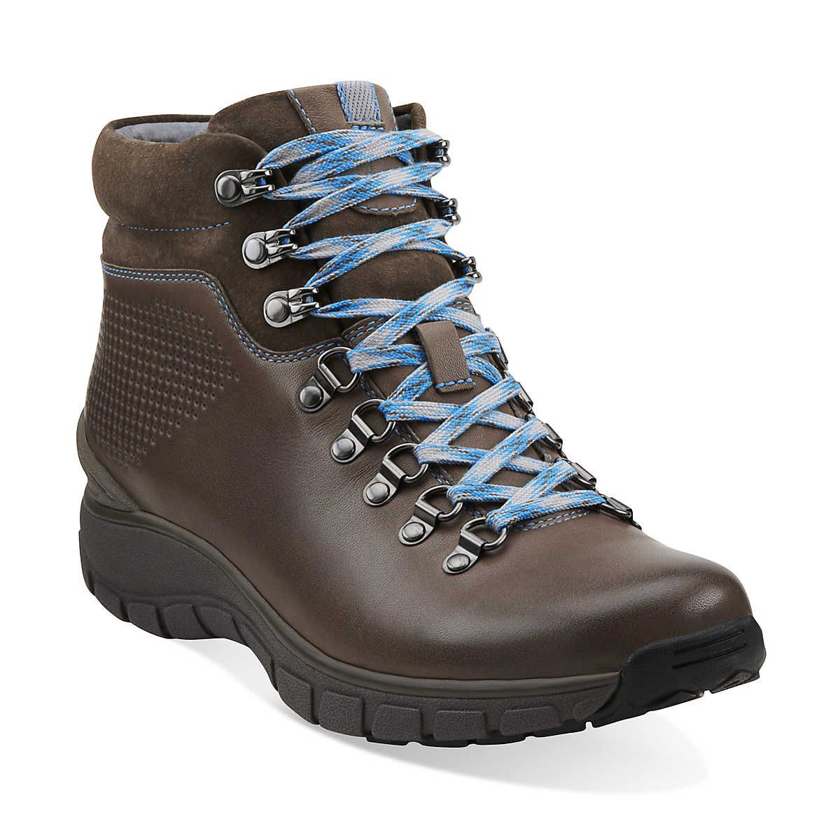e426a8a252a Wave.Cliff in Grey Leather - Womens Boots from Clarks #waterproof ...