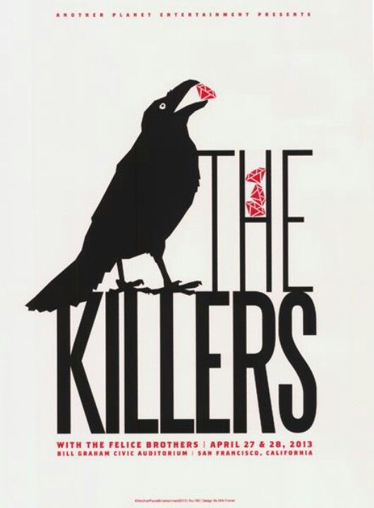 The Killers Crow And My Show Perfect Concert Poster Gig