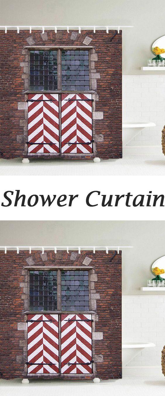 Glass Window Brick Wall Shower Curtain Designs Insulated Curtains Walls Bathroom