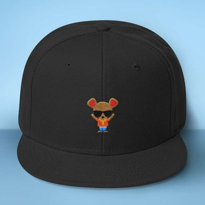 682f11c6c9995 Gangster Mouse Baseball Hat - Makes A Fun Present  Cute Mouse Black Cap -  Thug Out In Style