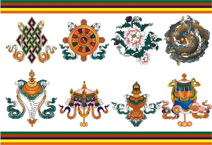 8 Auspicious Signs Of Tibetan Buddhism Buddha Pinterest