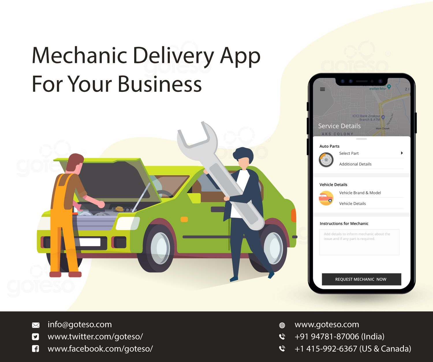 Goteso Is On Demand Mechanic App Development Company Which