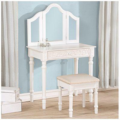 White Trifold Vanity Mirror Set At Big Lots Biglots