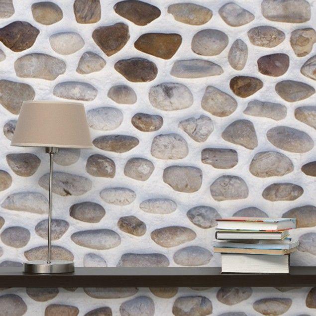 Tapete steinwand vliestapete andalusische steinmauer for Tapete steinwand