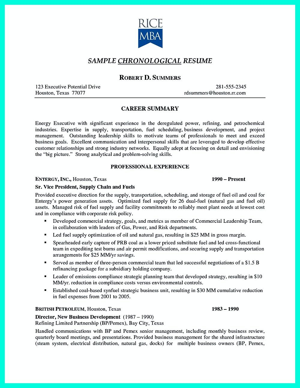 How To Write A Good Resume Custom Chronological Resume Is Neededpeople In Making Them Understand