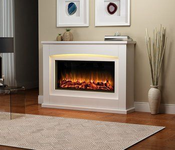 Electric Fireplace Suite Danby Glass Fronted