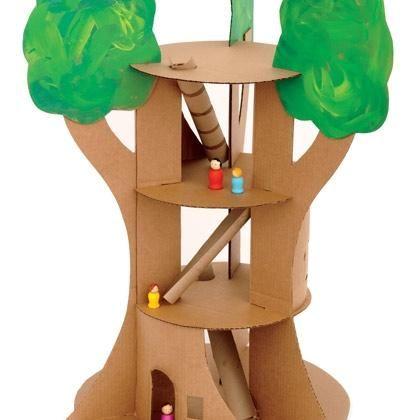 Diy A Tree House Crafts Spoonful Diy Cardboard Diy Crafts Diy