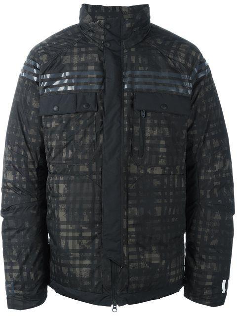 Mens adidas Originals White Mountaineering Padded Jacket In Black