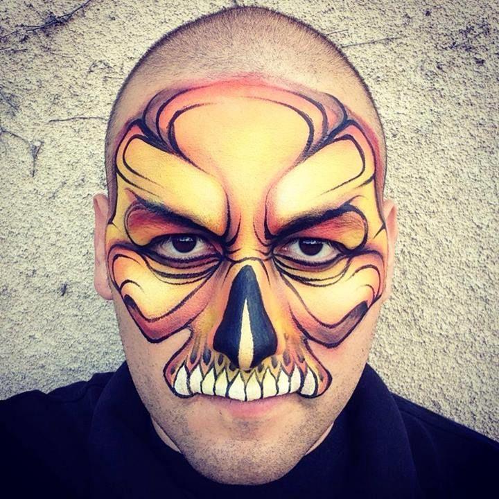 1456605_664769946900728_1157228437_njpg (720×720) face painting - halloween face paint ideas scary
