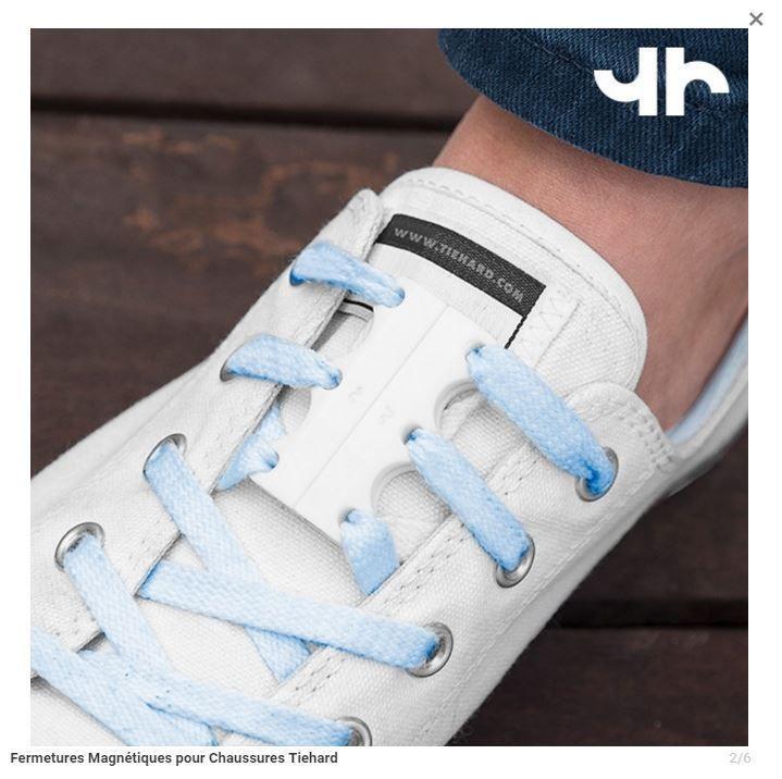 Fermetures magnétiques blanches pour chaussures