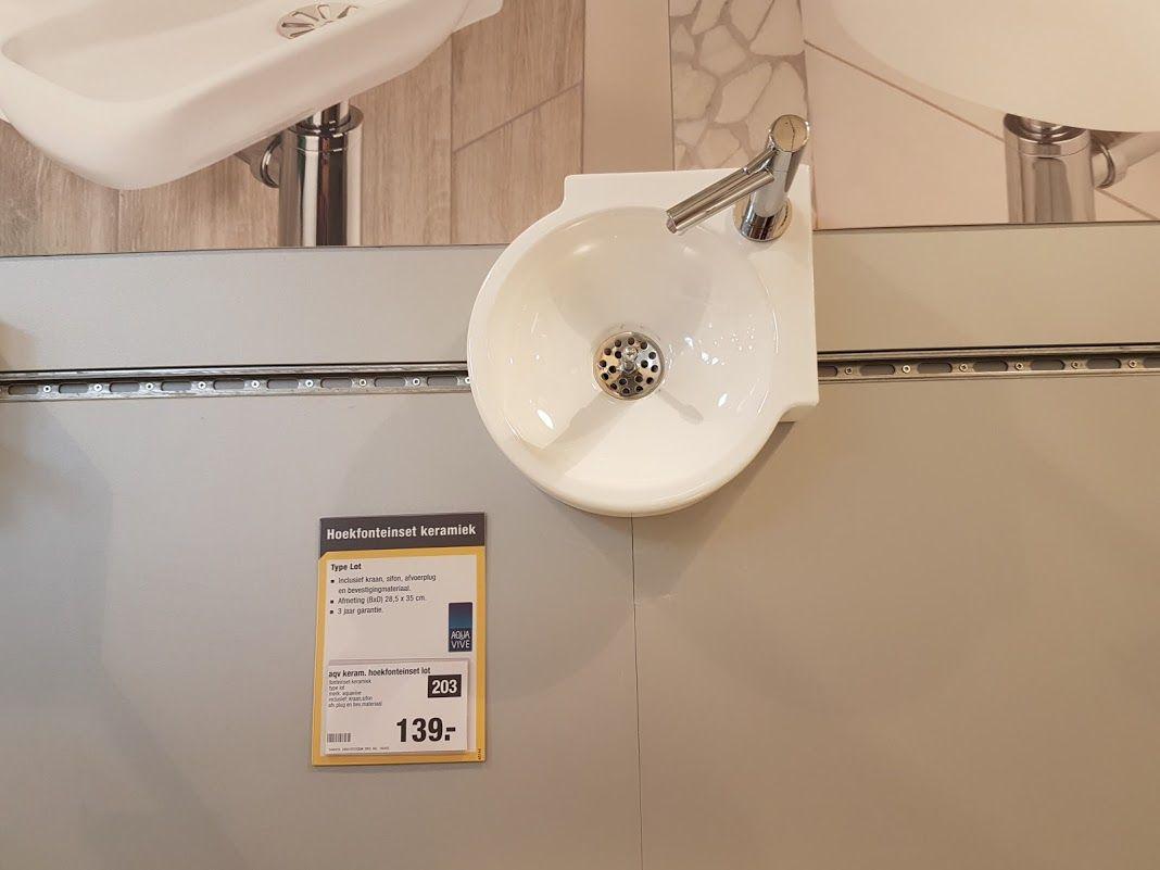 Hoekkraan wc boven praxis mbdef badkamers