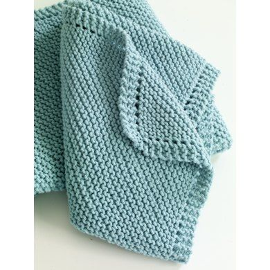 Diagonal Comfort Blanket In Lion Brand Cotton Ease Free