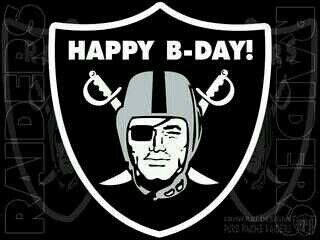 Raidernation Happybirthday With Images Oakland Raiders Logo