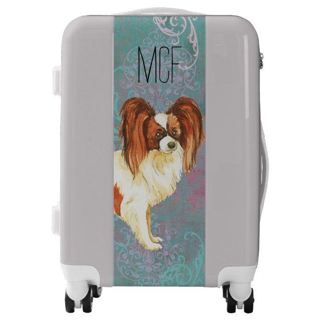 Elegant Papillon Luggage #papillon #butterfly #dog #epaugneul #nain #Luggage