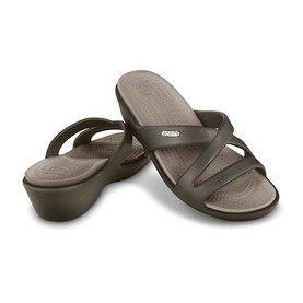 """Sandales compensées """"PATRICIA II"""" marron et gris"""
