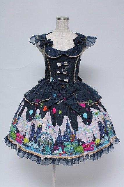 Metamorphose / Night Carnival Ribbon Jumper Skirt And Bonnet   Closet Child  Online Shop