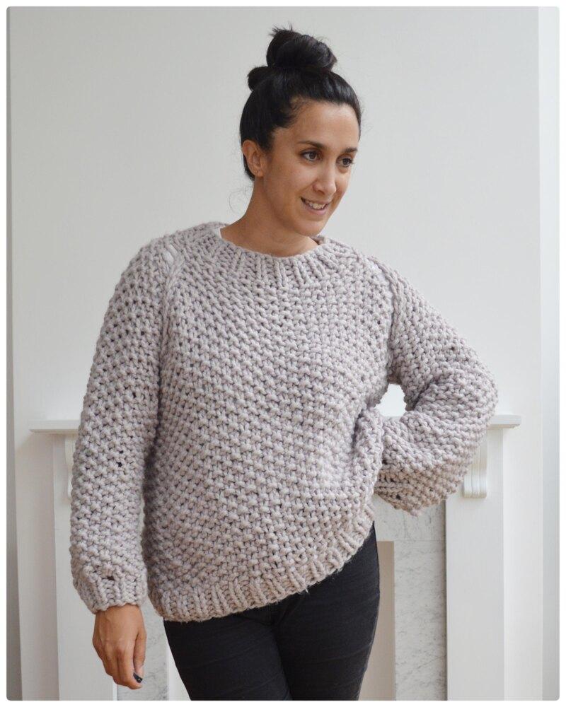 Photo of Seed Bubble Sweater Knitting pattern by KNITSAFARI