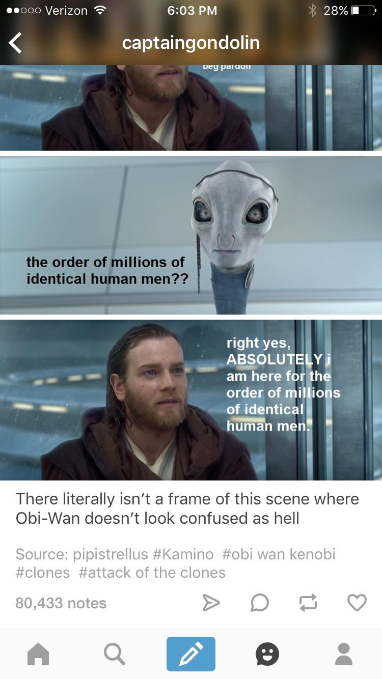 Obi Wan Kenobi Our Confused Spacejesus Star Wars Humor Star