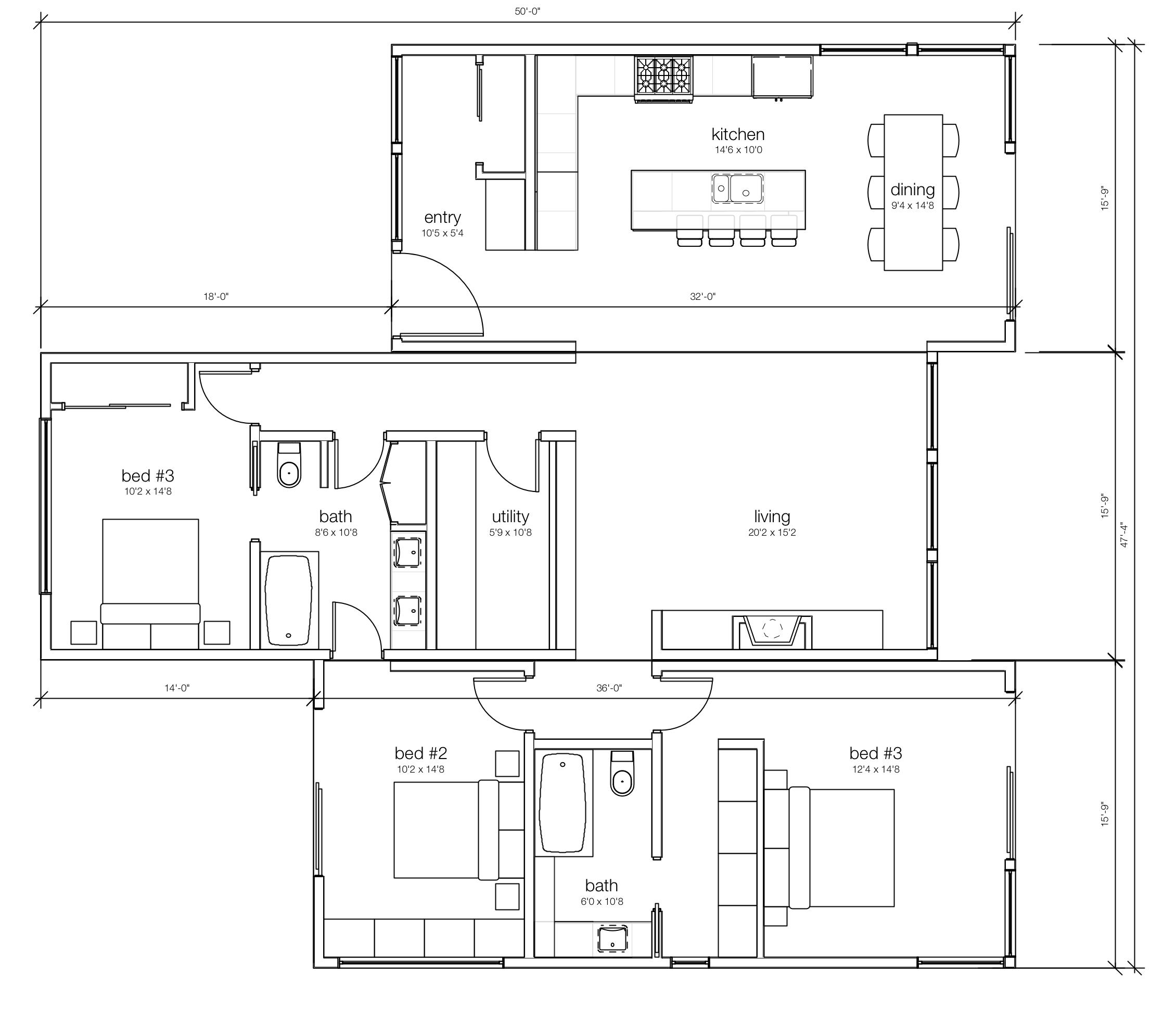 3 Bedroom Modular Home Or Prefab Home Designs The Fundy Prefab Homes 20x30 House Plans Craftsman Floor Plans