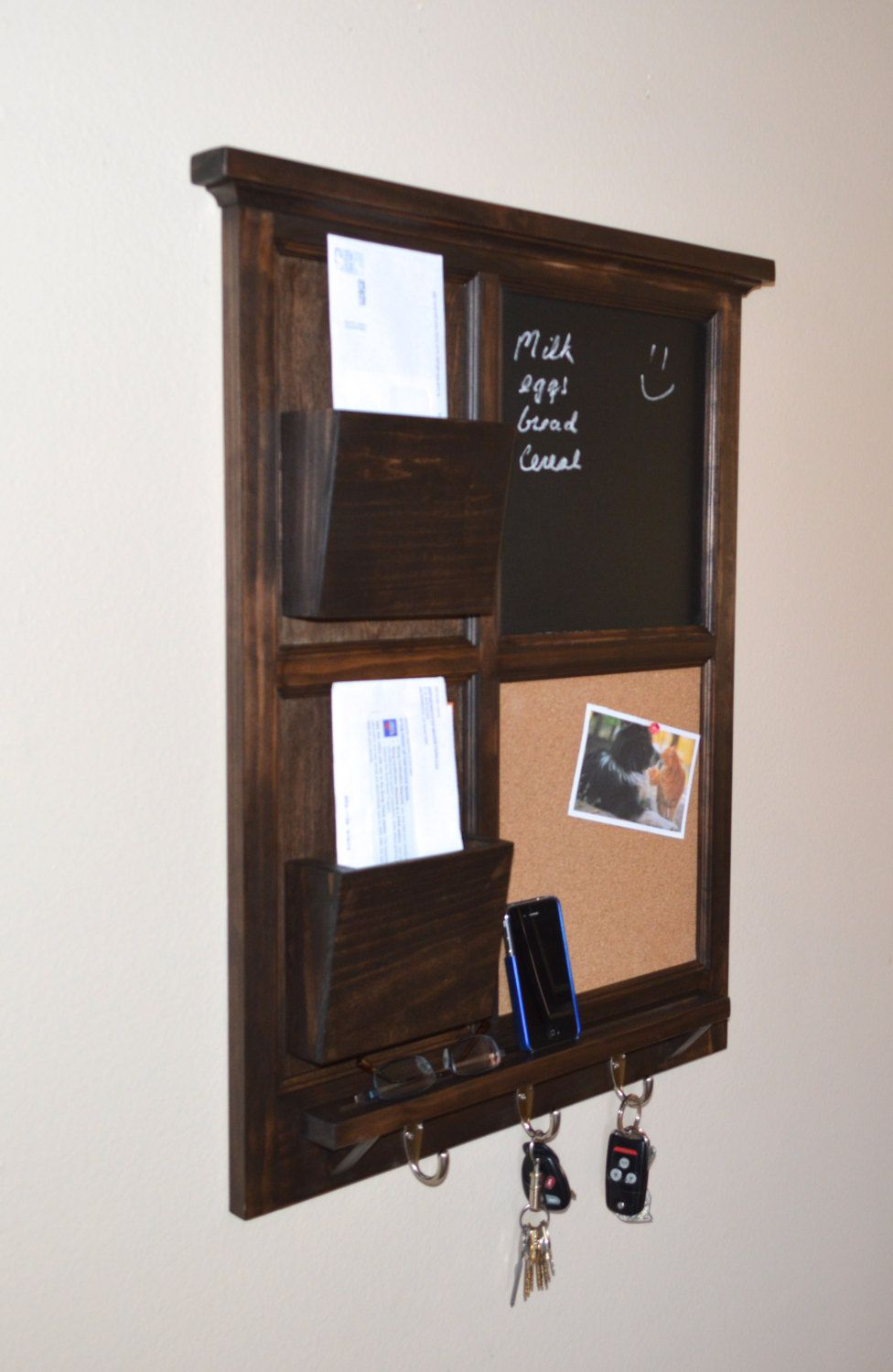 Cork Board Mail Organizer