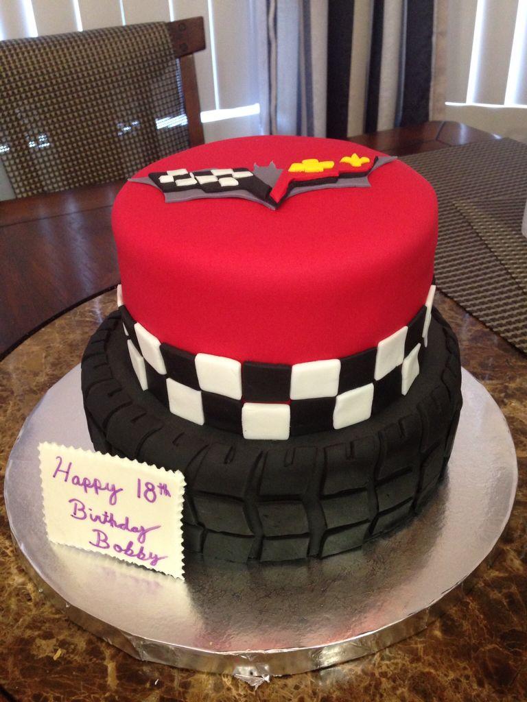 Corvette Car Tire Birthday Cake by I LOVE THE CAKE Los Angeles