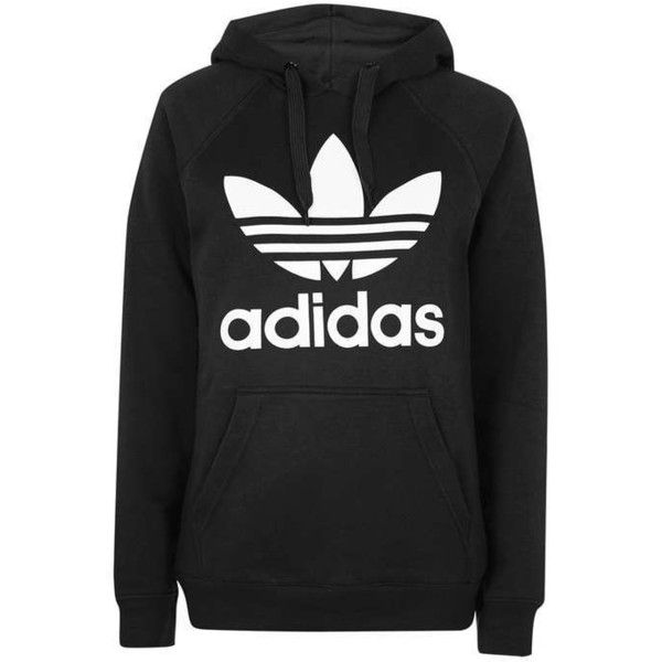 Trefoil Hoodie by Adidas Originals ( 65) ❤ liked on Polyvore featuring  tops 2dcc9d41d291d