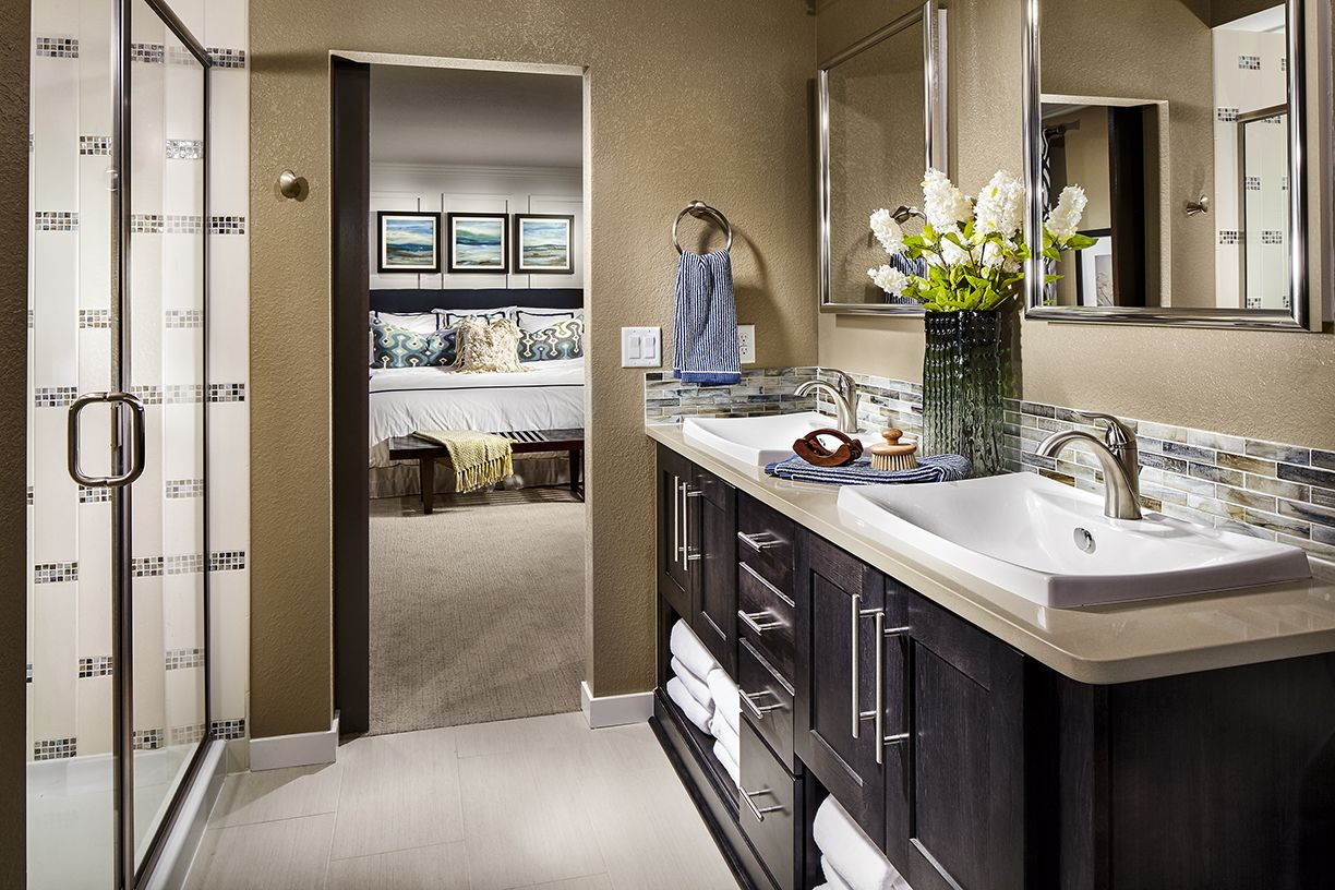 Master Bath With Just Shower a stunning master suite? check! shea homes colorado at reunion