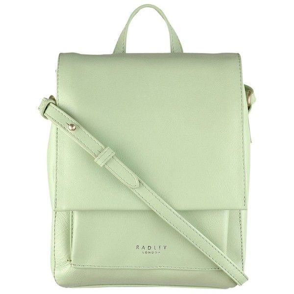 Radley Broadway Market Across Body Bag , Green (470 BRL) ❤ liked on Polyvore featuring bags, handbags, shoulder bags, backpacks, green, shoulder handbags, handbags crossbody, backpack purse, leather shoulder handbags and crossbody purses