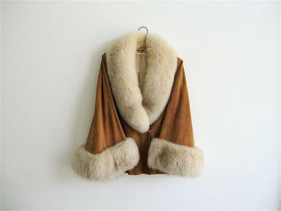 1960s Ted Lapidus Fur Trimmed Leather Jacket par SouvenirSouvenir