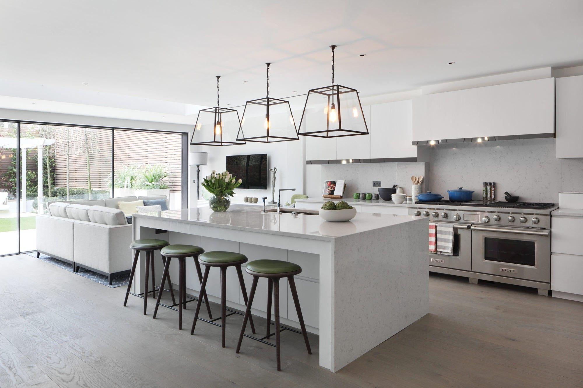 Kensington grey oak engineered flooring looks great in this open ...