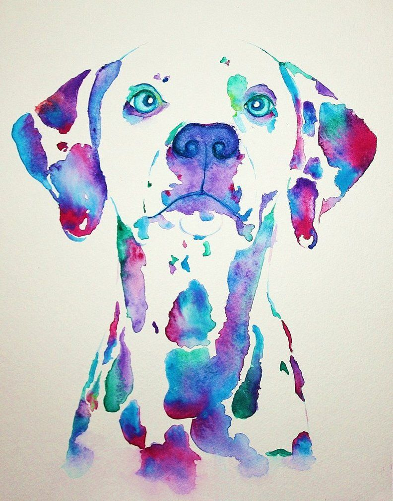 Black and white is such a bore dog paintings watercolor