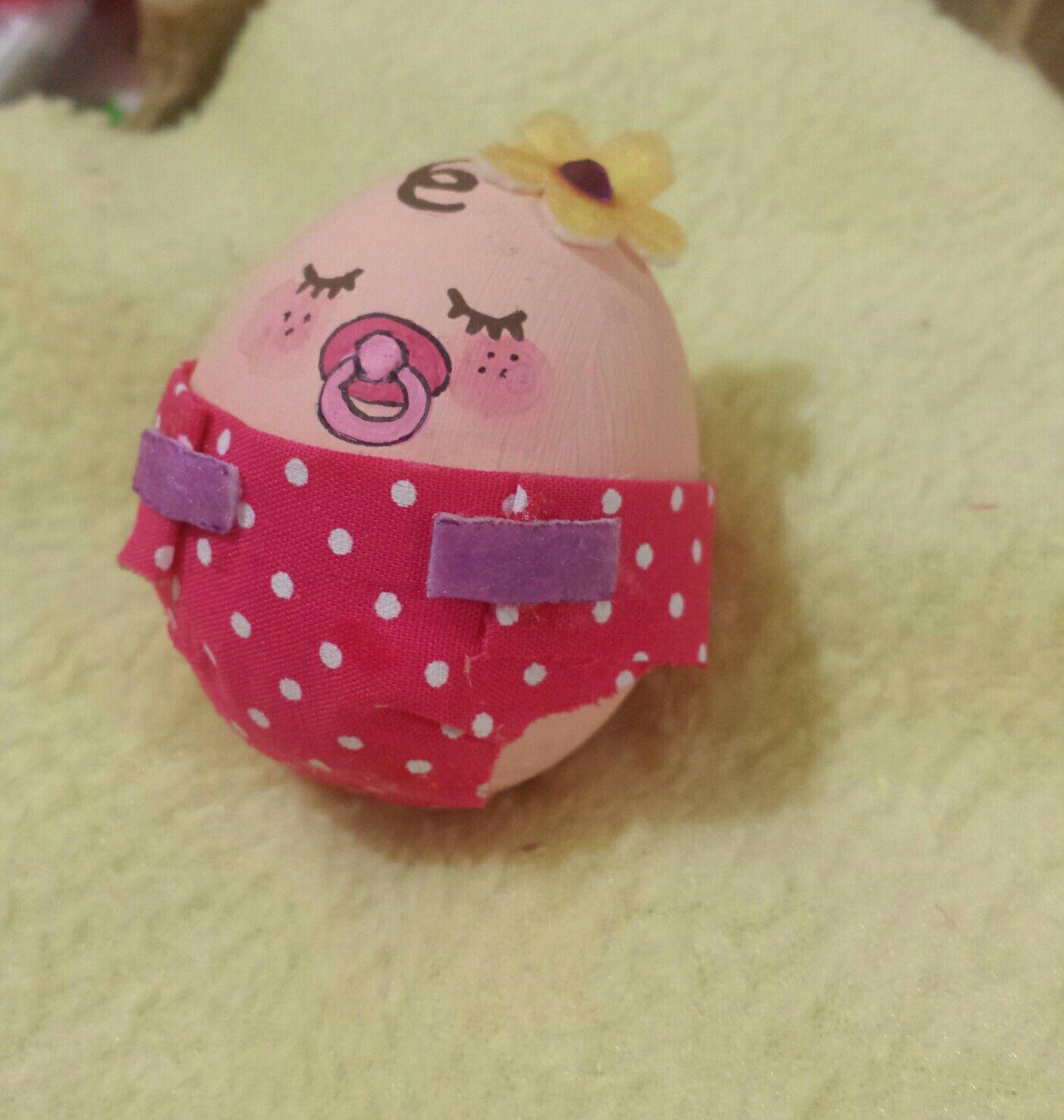 huevo decorado como hermosa bebe | creaciones con huevos ...