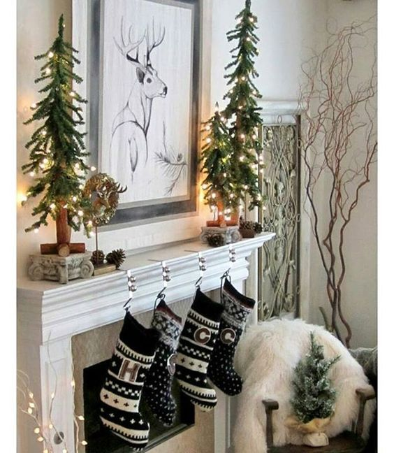 Diy Fireplace Christmas Decor : Diy christmas decoration projects for fireplaces