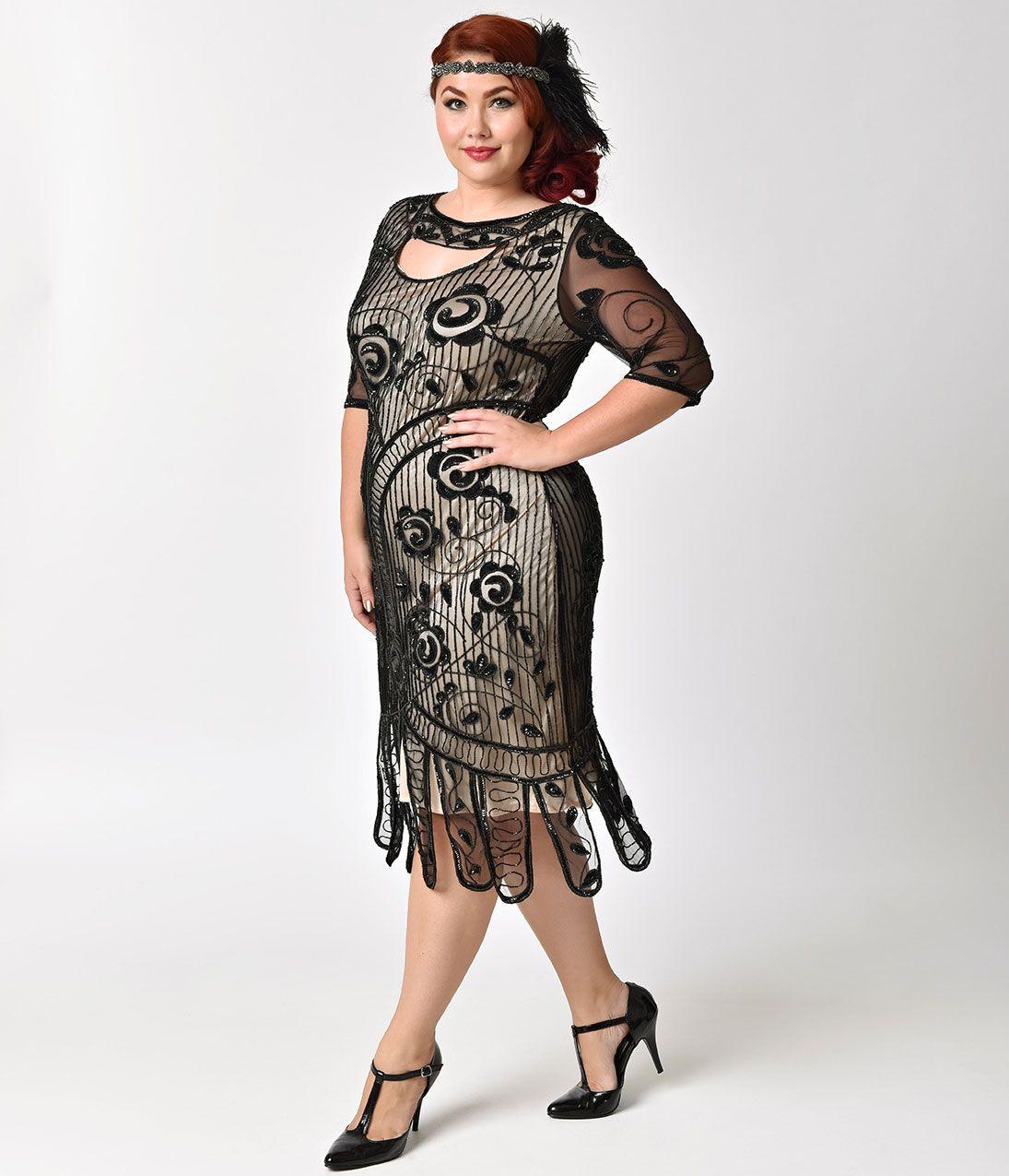Shop 1920s Plus Size Dresses and Costumes  48de572b6