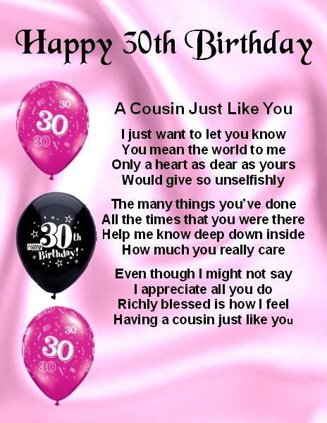 50th Birthday Cousin  Poem FREE GIFT BOX Fridge Magnet Personalised